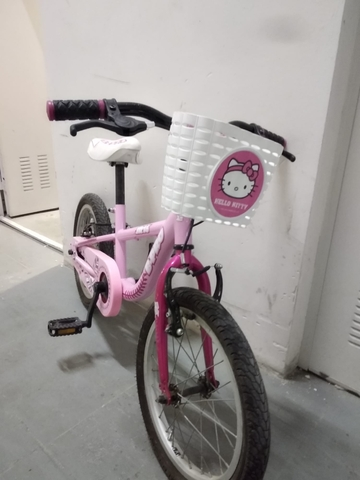 Bicicleta Niña+Ruedines+Cesta