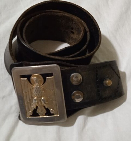 Policia Nacional. Cinturón Cuero.