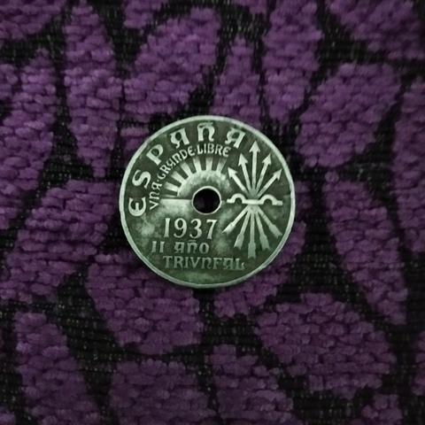 Moneda De 25 Centimos De 1937 España