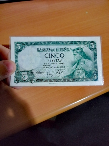 Billete 5 Pesetas 1954