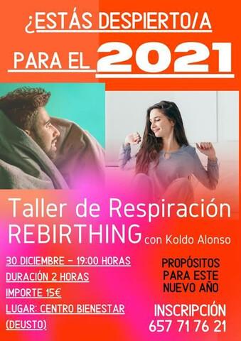 TALLER DE REBIRTHING RESPIRACIÓN - foto 1