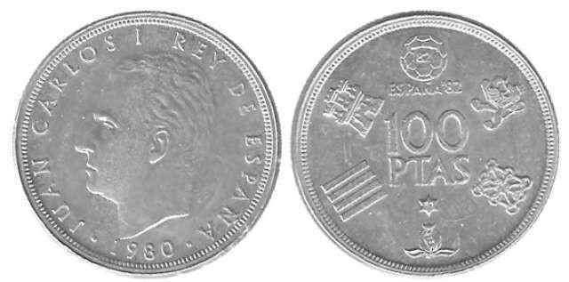 Moneda De 100 Pesetas Del Año 1980