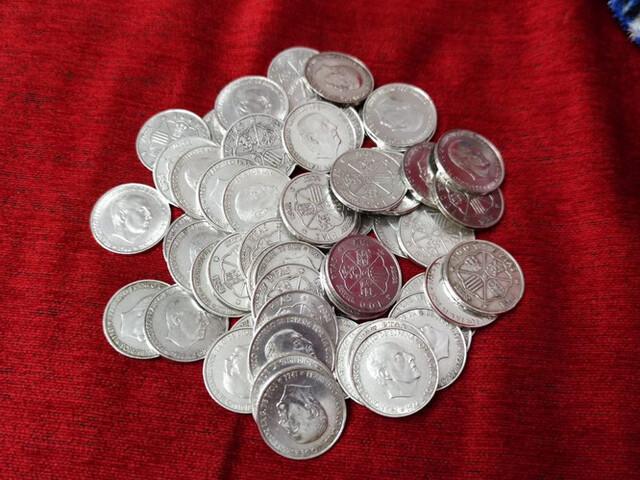 90 Monedas De Plata De 100 Pesetas 1966