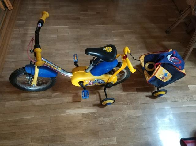 """Bicicleta De 14\"""" Con Carrito."""