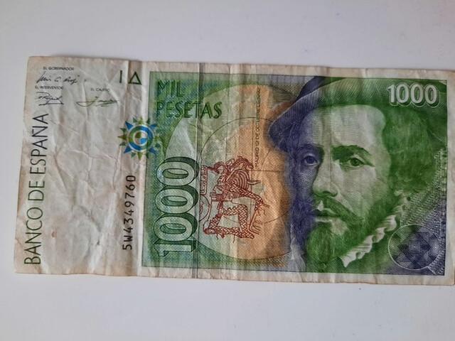 Vendo Billete 1000 Pesetas Año 1992