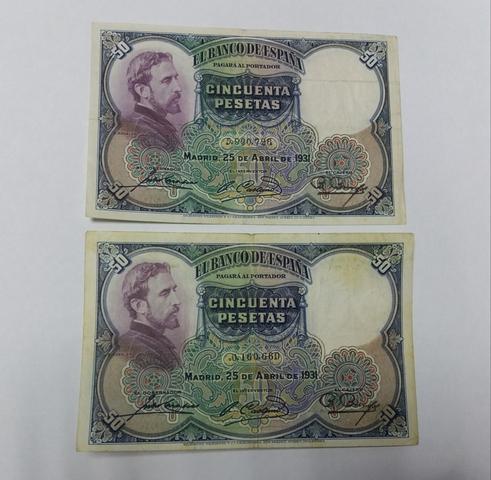 Billetes 50 Pesetas 1931