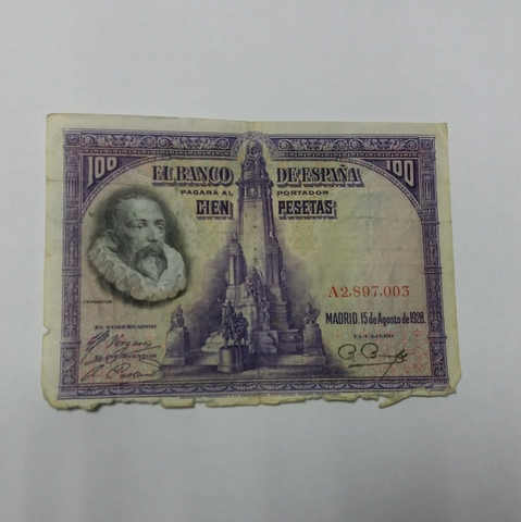Billete 100 Pesetas 1928
