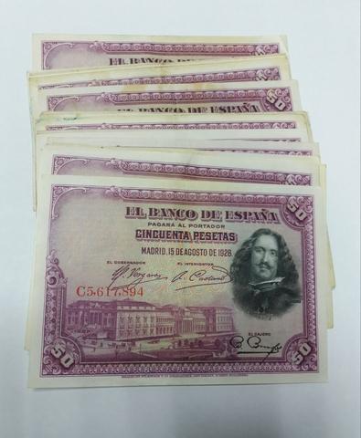 Billetes 50 Pesetas 1928