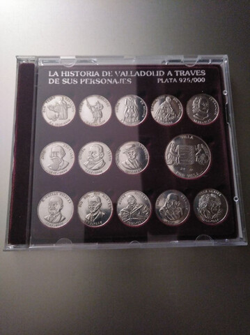 Monedas Plata Personajes Valladolid