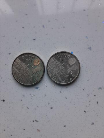 Se Vende 2 Monedas De 2000 Pesetas.