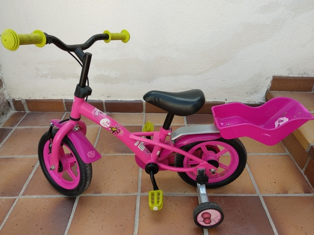 Bicicleta,  Cesta Y Ruedines