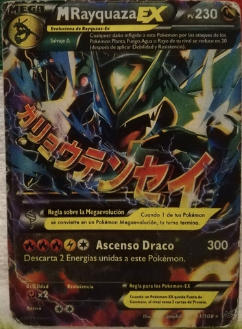 Carta Pokemon Mega Rayquaza Ex 61/180