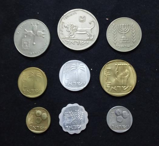 Colección 9 Monedas Israel