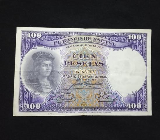 1931- Billete De 100 Pesetas.