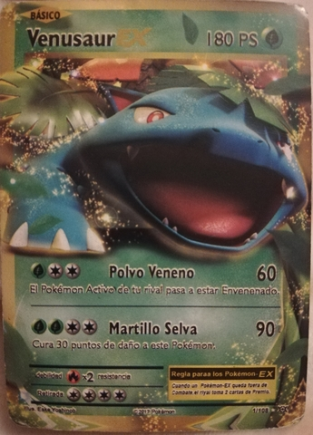Carta Pokemon Venusaur Ex 1/180