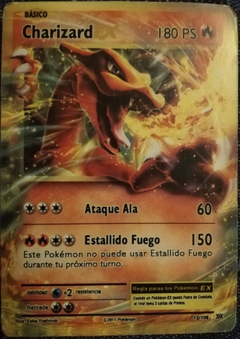 Carta Pokemon Charizard Ex 12/180