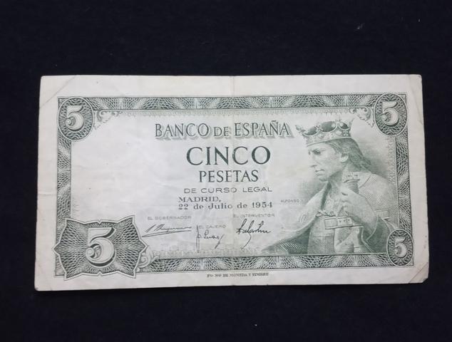 1953 - Billete De 5 Pesetas
