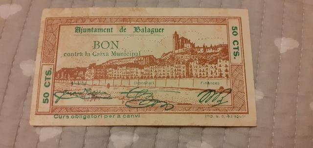 50 Céntimos 1937 Balaguer