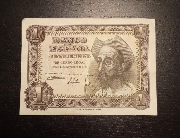 1951- Billete De 1 Peseta