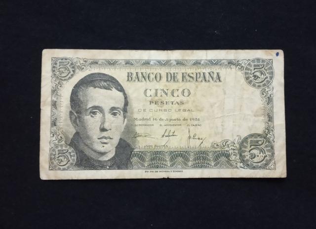 1951- Billete 5 Pesetas