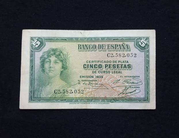 1935 - Billete De 5 Pesetas