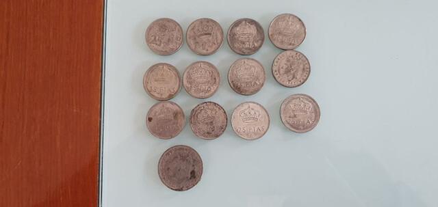 Lote Monedas 25 Y 50 Pesetas Juan Carlos