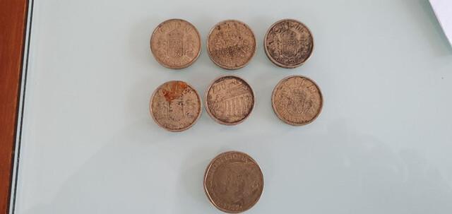 Lote 6 Monedas De 100 Y 500 Pesetas