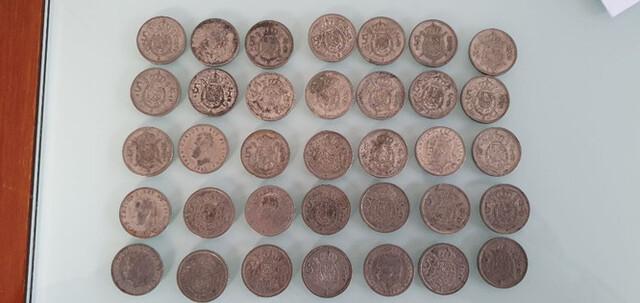 Lote 35 Monedas De 5 Pesetas