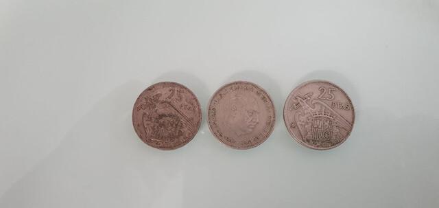 Lote 3 Monedas 25 Pesetas