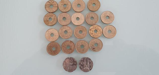 Lote 18 Monedas 25 Y 50 Pesetas