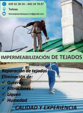 IMPERMEABILIZACIÓN DE TEJADOS - foto 1