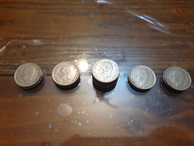 Lote De Monedas 5 Pesetas De 1975
