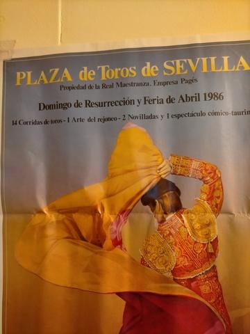 Cartel De Toros De Sevilla 1986