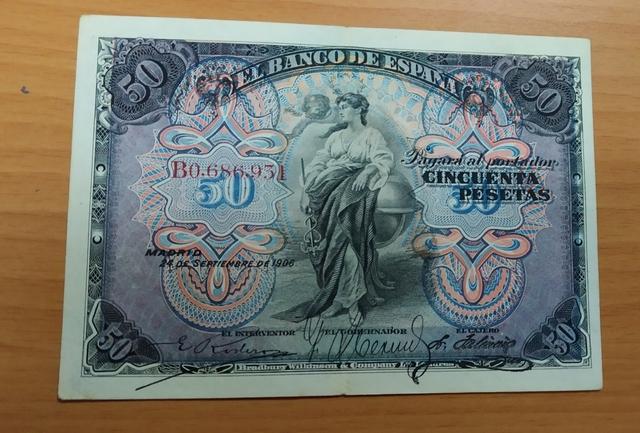 Billete 50 Pesetas Año 1906.