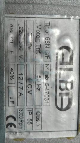 Motor Alba Para Mesa De Corte 4Cv