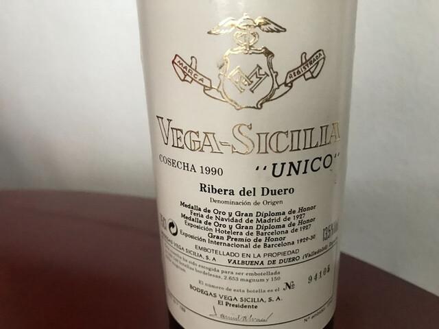 Vino Vega Sicilia Cosecha 1990