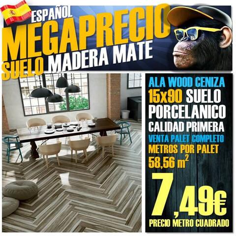 Suelo Porcelanico Madera 15X90 Wood