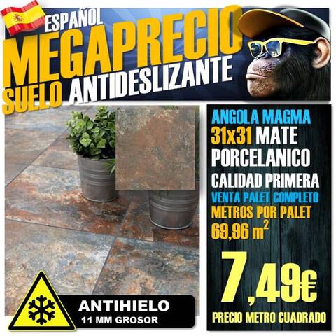 Suelo Porcelanico Angola Magma 31X31