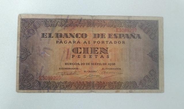 Billete De 100 Pesetas De 1938 Burgos