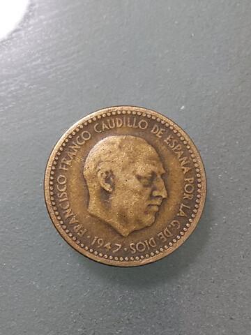 1 Peseta 1947 19X50
