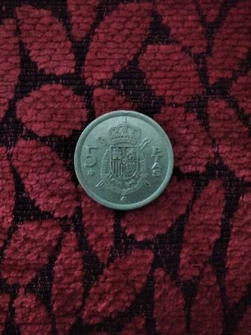 Moneda De 5 Peseta 1975 * 76 Juan.Carlos