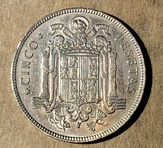Moneda De 5 Pesetas 1949 19*50