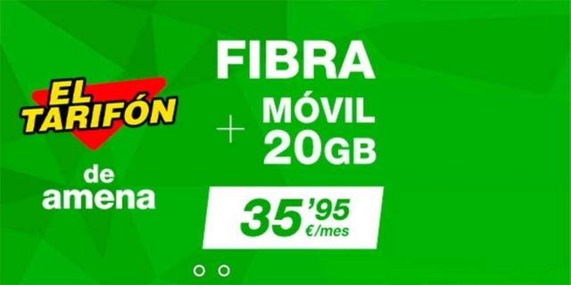 AMENA TARIFAS FIBRA Y MÓVIL/ FIBRA 100MB - foto 1