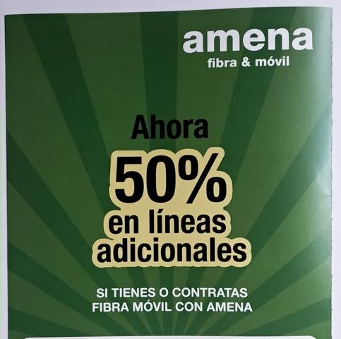 AMENA TARIFAS FIBRA Y MÓVIL/ FIBRA 100MB - foto 2