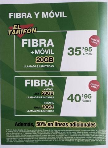 AMENA TARIFAS FIBRA Y MÓVIL/ FIBRA 100MB - foto 4