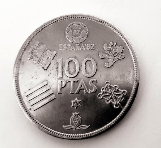 Momeda De 100 Pesetas Del Mundial 82 .