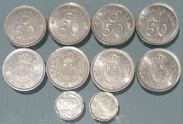 Lote De 50 Pesetas De Juan Carlos I