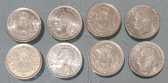 Lote De 5 Pesetas De Juan Carlos I