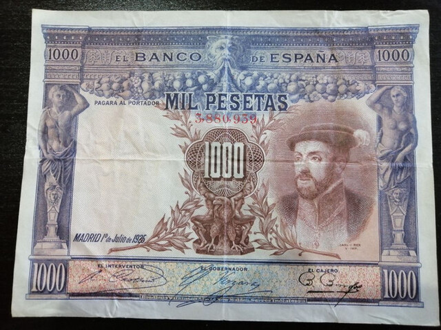 Billete 1000 Pesetas 1925