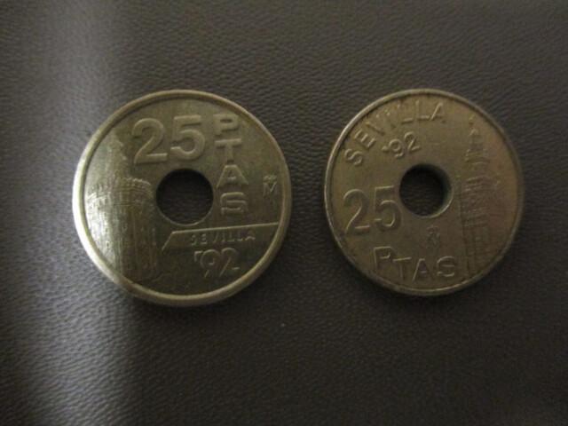 Monedas De 25 Pesetas Serie Expo92
